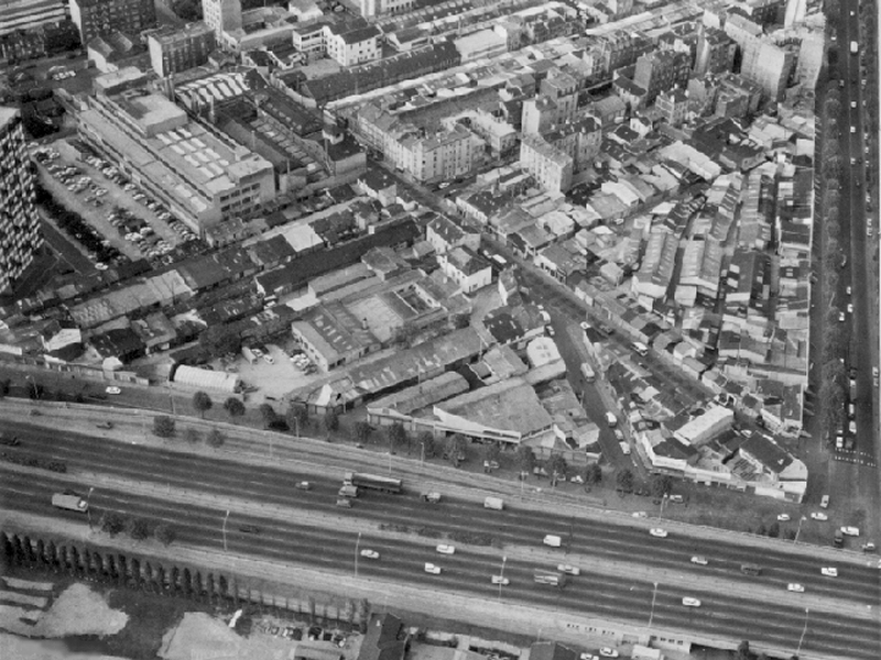 Aerial photo of Vernaison market